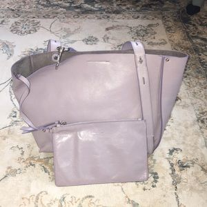 New! Rebecca Minkoff leather tote with pouch